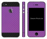 iPhone 4 Sticker Duo Purple-Zwart Carbon